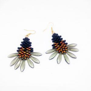 Black fear earrings
