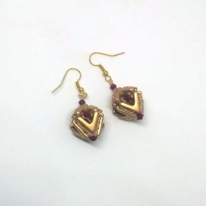 Gold lantern of love earrings