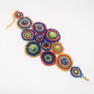 Mexican fields statement bracelet
