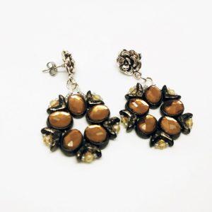 Baroque style stud earrings