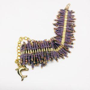 Purple gold frozen bracelet
