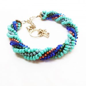 Mentos green and blue swirl bracelet