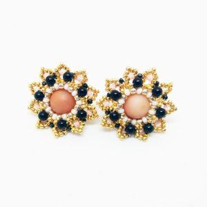 Big sun stud earrings