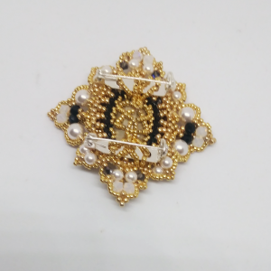 Gold and Black queen brooch