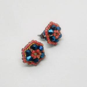 Tiny shiny flowers stud earrings