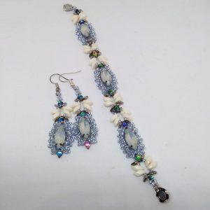 Mermaid sparkly bracelet and earrings