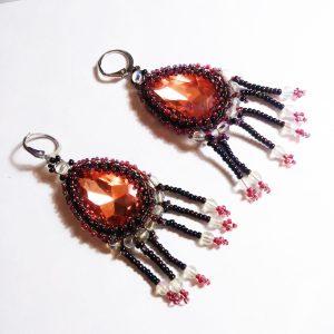 Purple and pink fear earrings
