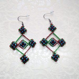 Christmas colors earrings